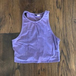 Cropped sleeveless tank